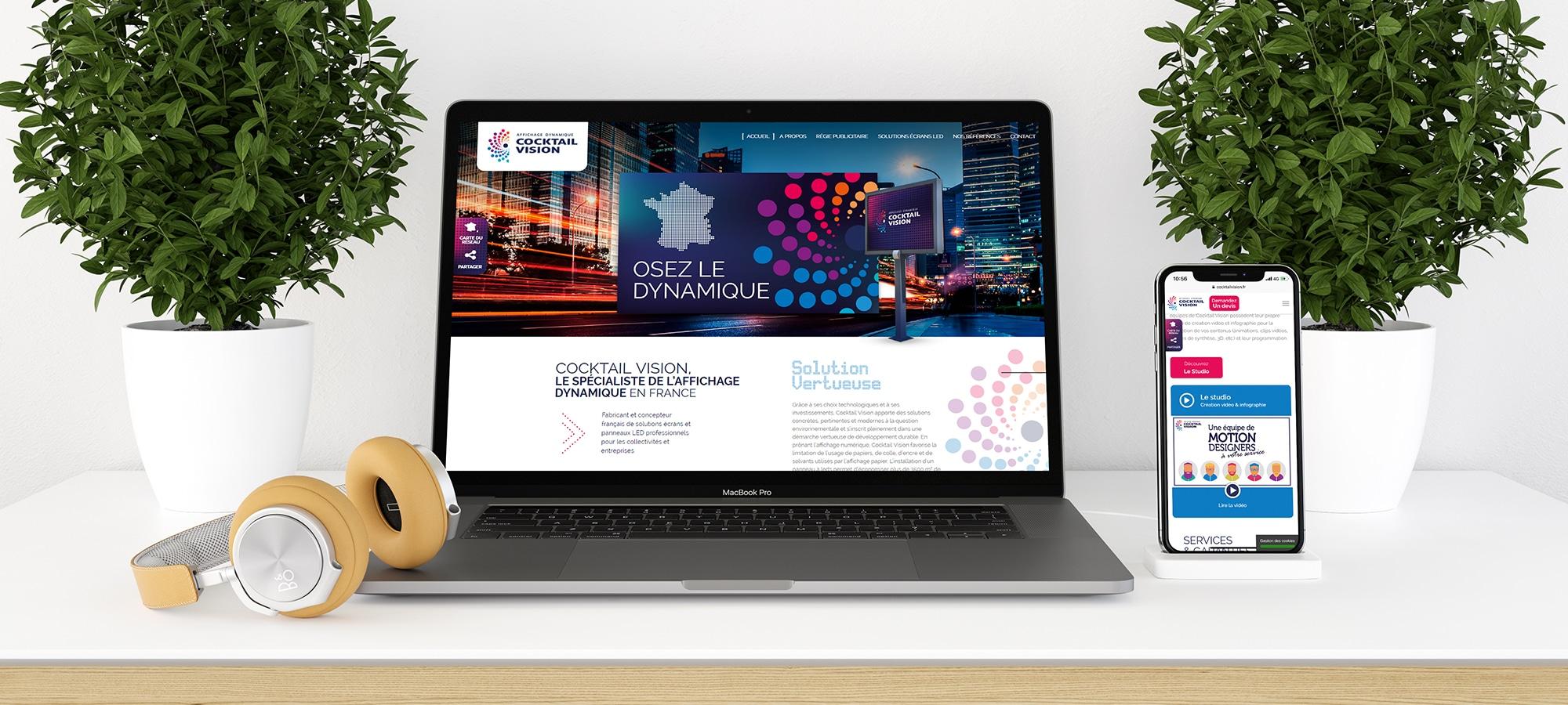 cocktail vision vue site internet cyberscope réalisation