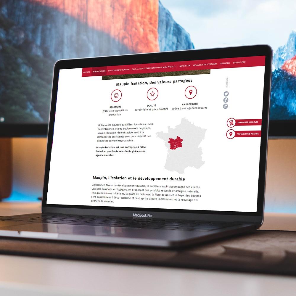 réalisation site internet maupin par cyberscope