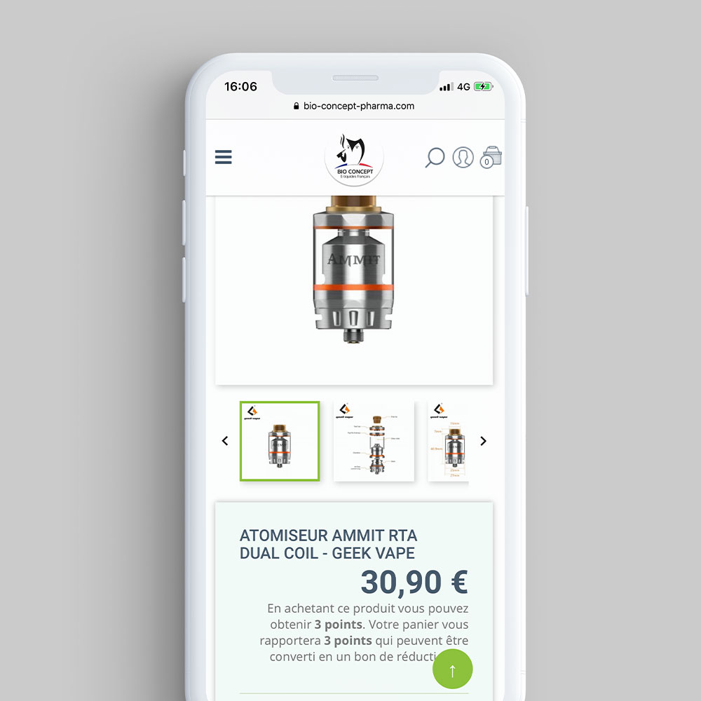 bio concept pharma iphone x realisation par cyberscope agence web niort la roche sur yon