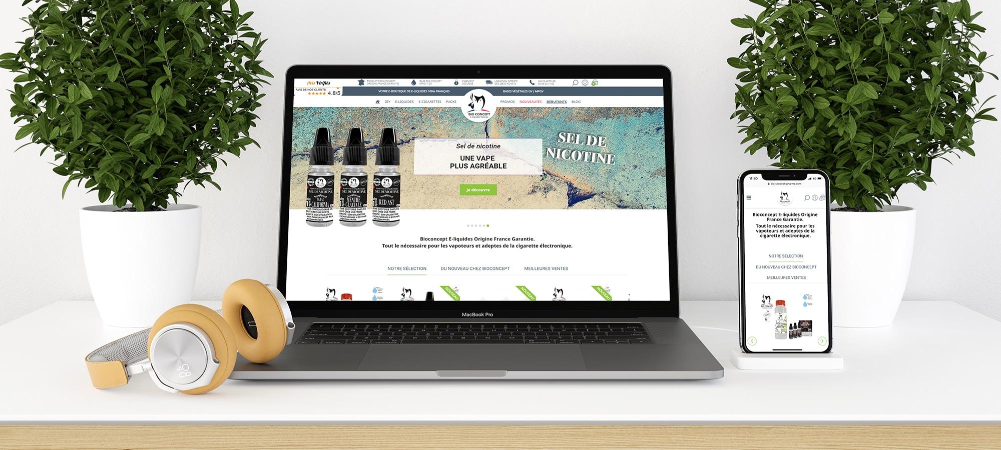 bio concept pharma vue site internet ecommerce par cyberscope