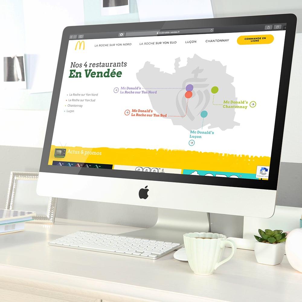 mcdonalds vendée site web agence cyberscope