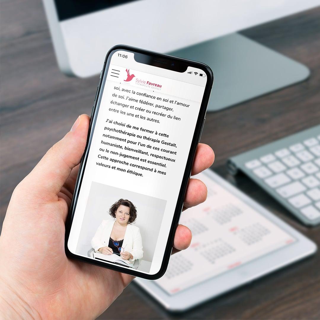 sylvie favreau vue mobile site internet cyberscope
