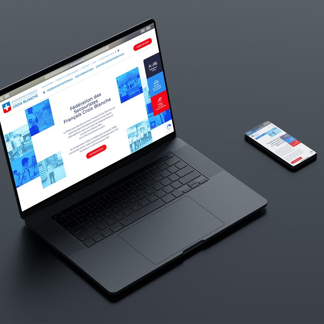 creation site internet croix blanche responsive