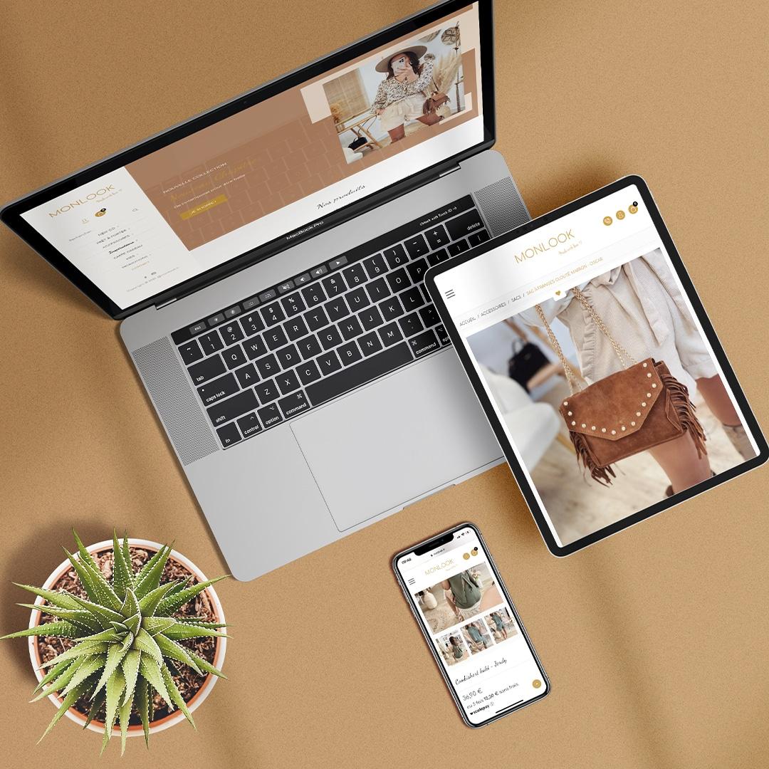 monlook site responsive agence web cyberscope